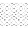 Sketch hearts net vector image