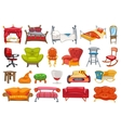 set of furniture vector image vector image