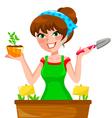 Gardenning girl vector image