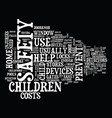 the child safety devices you need in your home vector image
