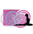 Woman meditating and doing yoga vector image vector image