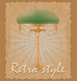 retro style poster old table lamp vector image