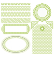 Set of elements for design Collection for Mom vector image vector image