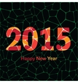Happy New Year 2015 colorful greeting card made in vector image