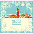 Winter Little Town vector image