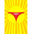 Sun in panties women Summer Solar vector image