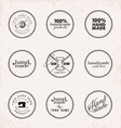 Hand Made Labels Badges and Design Elements vector image