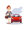 Parking at Work Daily Routine Activities of Women vector image vector image
