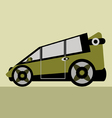 family car vector image