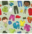modern casual boys clothes vector image vector image