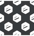 Black hexagon burning cigarette pattern vector image