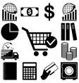 Business and finance signs set vector image
