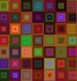 Dark square mosaic background design vector image