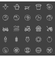 Farm icons collection vector image