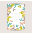 Greeting card with geometric butterflies vector image
