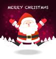Merry Christmas happy Santa Claus jumping vector image