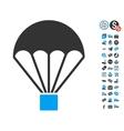 Parachute Icon With Free Bonus vector image