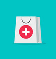 pharmacy bag flat cartoon vector image