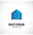 Real Estate Catalog Concept Symbol Icon or Logo vector image