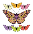 Set of butterflies isolated on white background vector image