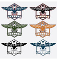 set of crests with eagles vector image