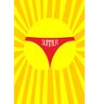 Sun in panties women Summer Solar vector image