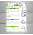 Vintage grunge vegetarian food menu design vector image