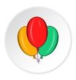 Air balloons icon cartoon style vector image