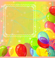 holiday background with balloons vector image vector image