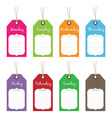 weekly tags vector image