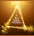 Gold Christmas Stars vector image