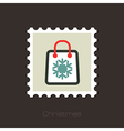 Christmas Shopping bag stamp vector image