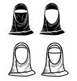 paranja hijab vector image