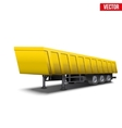 Blank parked yellow tipper semi trailer vector image