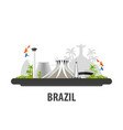 brazil travel location vacation or trip and vector image