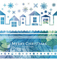 City Winter watercolor Christmas background vector image