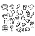 doodle series - food vector image