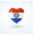 Flag of Paraguay in shape diamond glass heart vector image