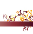 floral graphic banner vector image