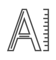 Font line icon vector image