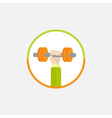 Hand holding dumbell Round Colored Icon Sport vector image