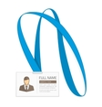 Id card for businessman vector image