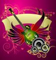 Music banner design vector image