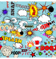 Retro Seamless Pattern with Comic vector image