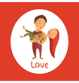 Couple in love 37 vector image