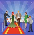 celebrity design composition vector image