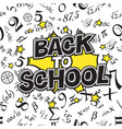 back to school black and white comic retro vector image