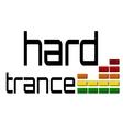 Hard trance dj equalizer music volume on alpha vector image