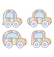 Pastel cars vector image