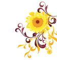 sun flower graphic vector image
